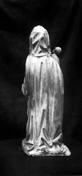 statuette : Vierge à l'Enfant, vue générale de dos