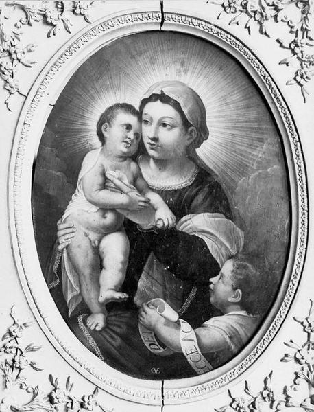 peinture : Vierge à l'Enfant avec saint Jean-Baptiste, vue générale