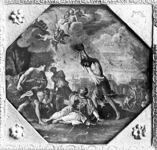 peinture : La Lapidation de saint Etienne, vue générale