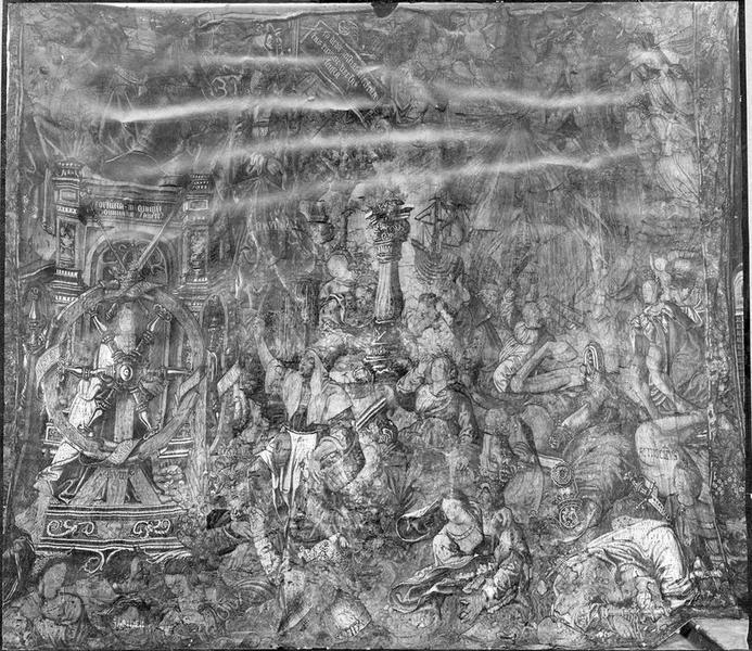 pièce murale : sujet allégorique, vue générale