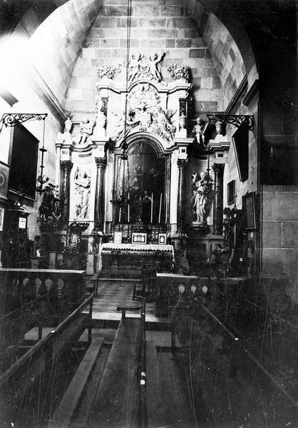 retable d'une chapelle du collatéral sud, tableau : Le Couronnement de sainte Thérèse par le Christ, vue générale