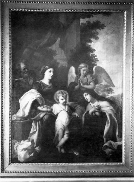 tableau : La Sainte Famille avec un ange et sainte Thérèse, vue générale