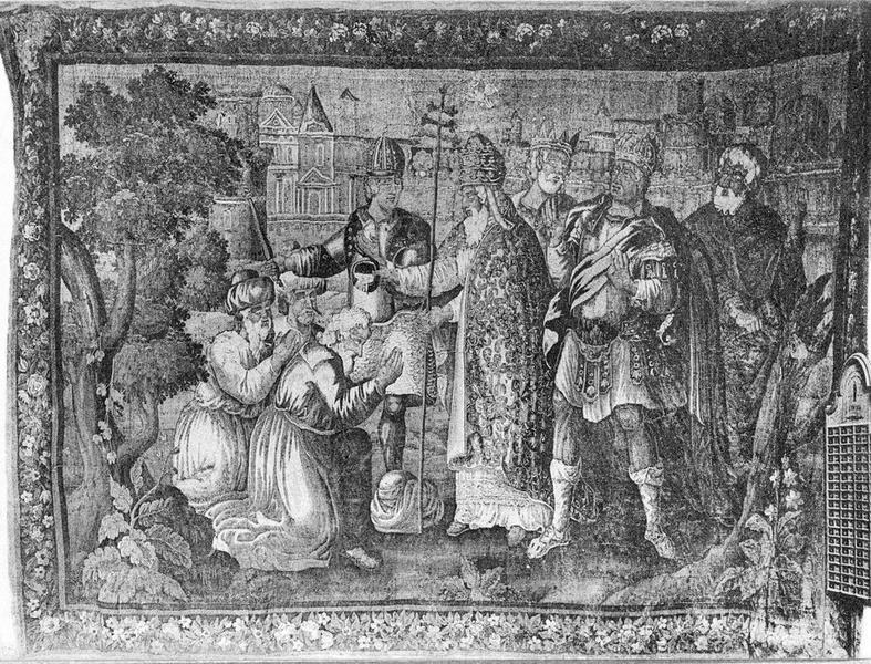 4 pièces murales : Saint Paul, Saint Pierre et Saint Paul, Le Baptême du prince Djem, frère de Bajazet, La Conversion de saint Paul sur le chemin de Damas