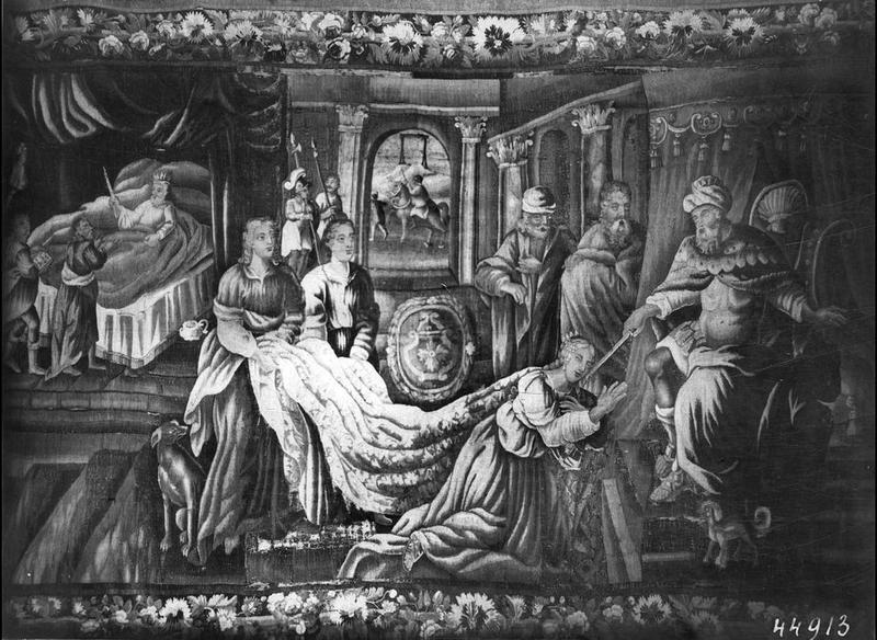 pièce murale : Esther devant Assuérus vue générale