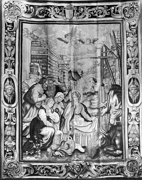 pièce murale : La Nativité, vue générale