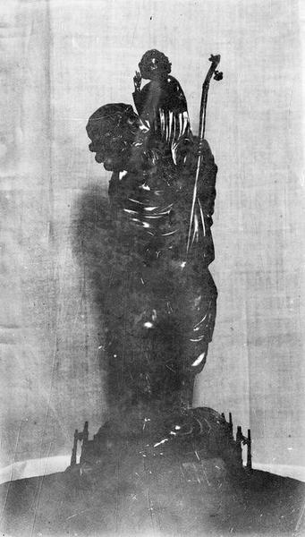 statuette-reliquaire : Saint Christophe, vue générale