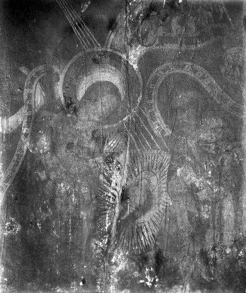 tableau (panneau peint) : La Nativité, vue générale