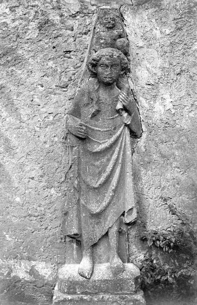 bas-relief : Saint Christophe, vue générale