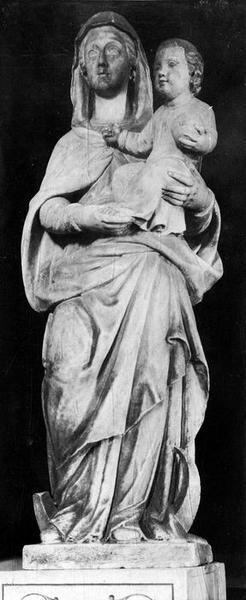 statue : Vierge à l'Enfant dite Notre-Dame de Lamourguier, vue générale