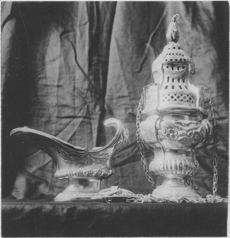 encensoir, navette à encens, vue générale
