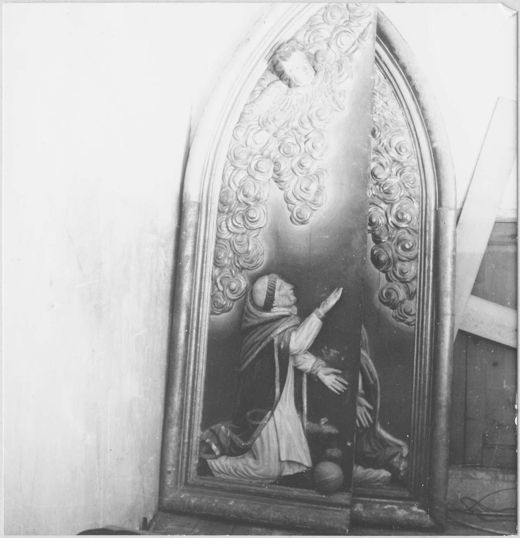 volet de polyptyque : saint Dominique, vue générale