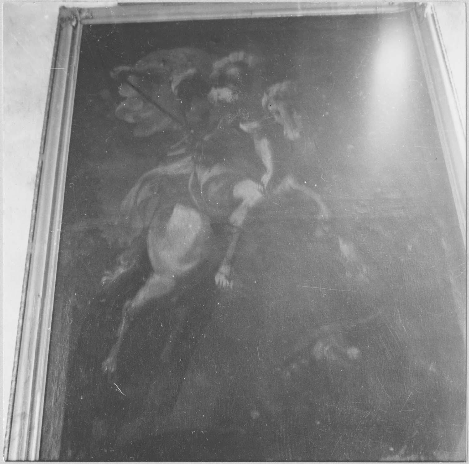 tableau : Saint Georges terrassant le dragon, vue générale