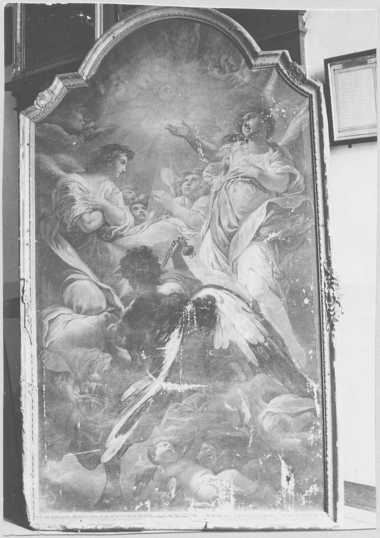 Tableau : Les Anges adorant le Sacré-Coeur