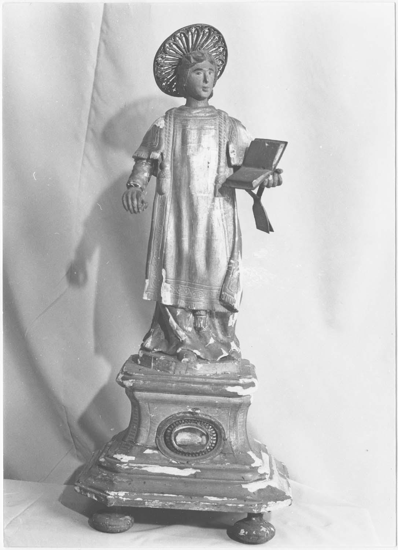 2 statuettes-reliquaires de saint Vincent et de saint Laurent, diacres