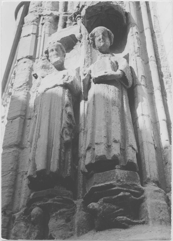 statues : Saint Vincent, Saint non identifié, vue générale