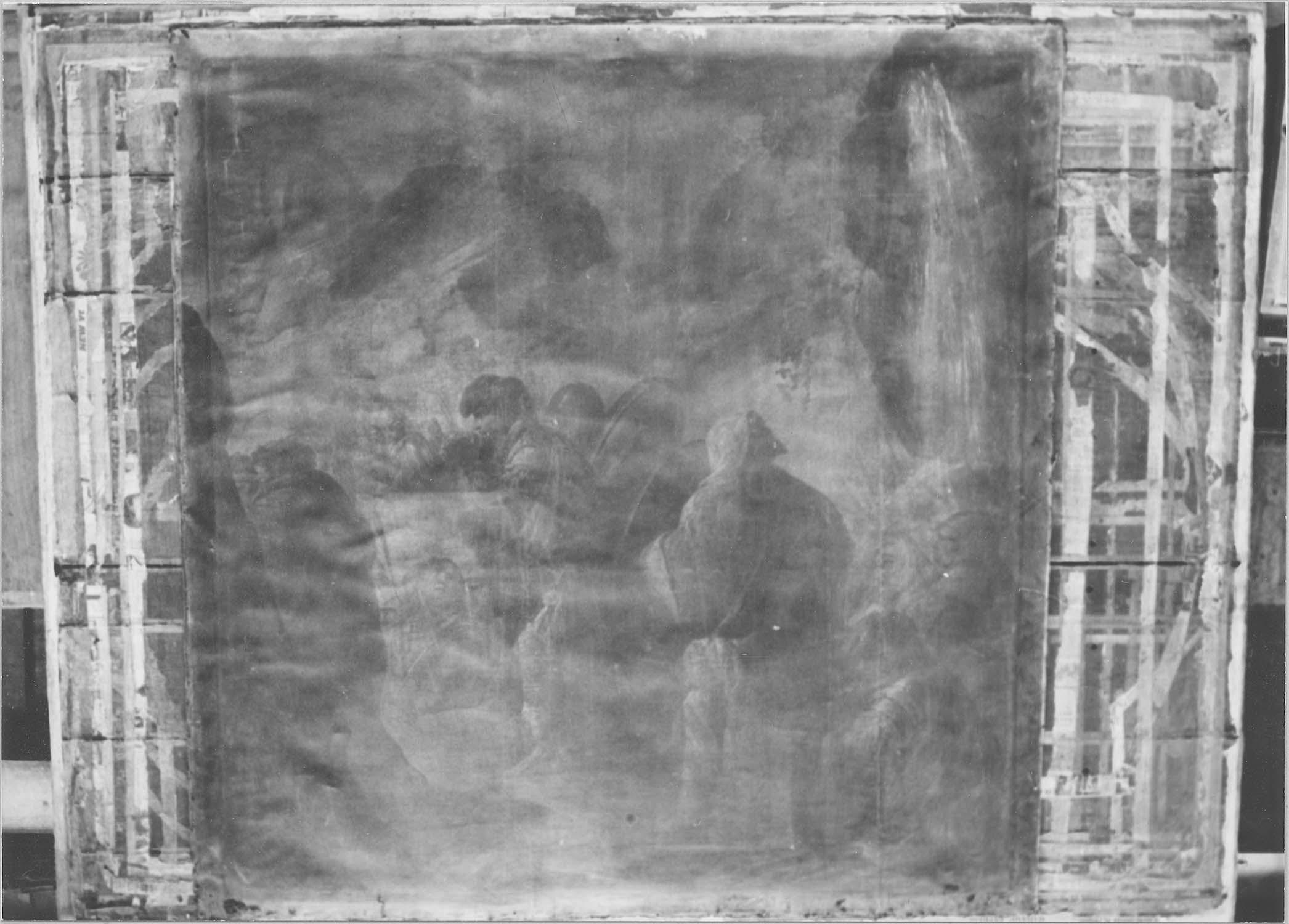Tableau : David et ses soldats gravissant le Mont des Oliviers