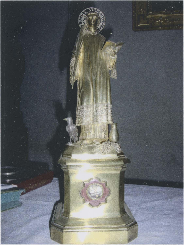 Statue-reliquaire de saint Vincent