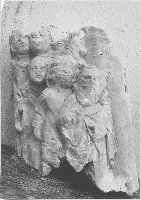 groupe sculpté : Les Elus (?), vue générale