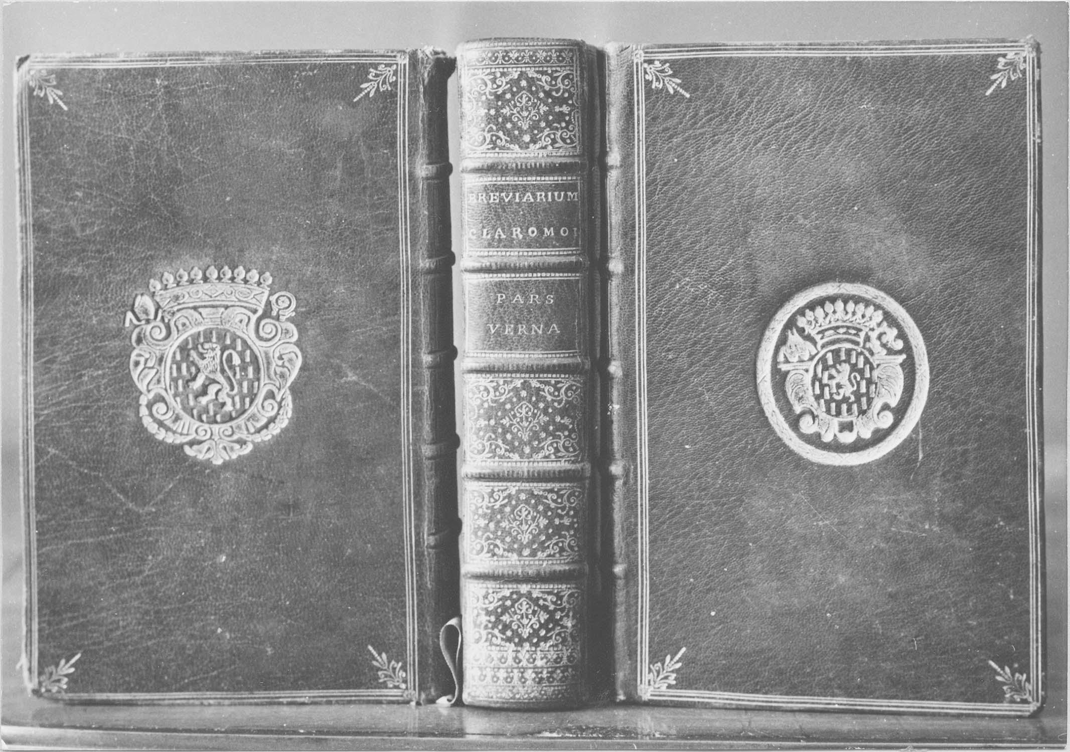 livre liturgique (bréviaire) : Breviarium Claromontense, vue générale de la reliure