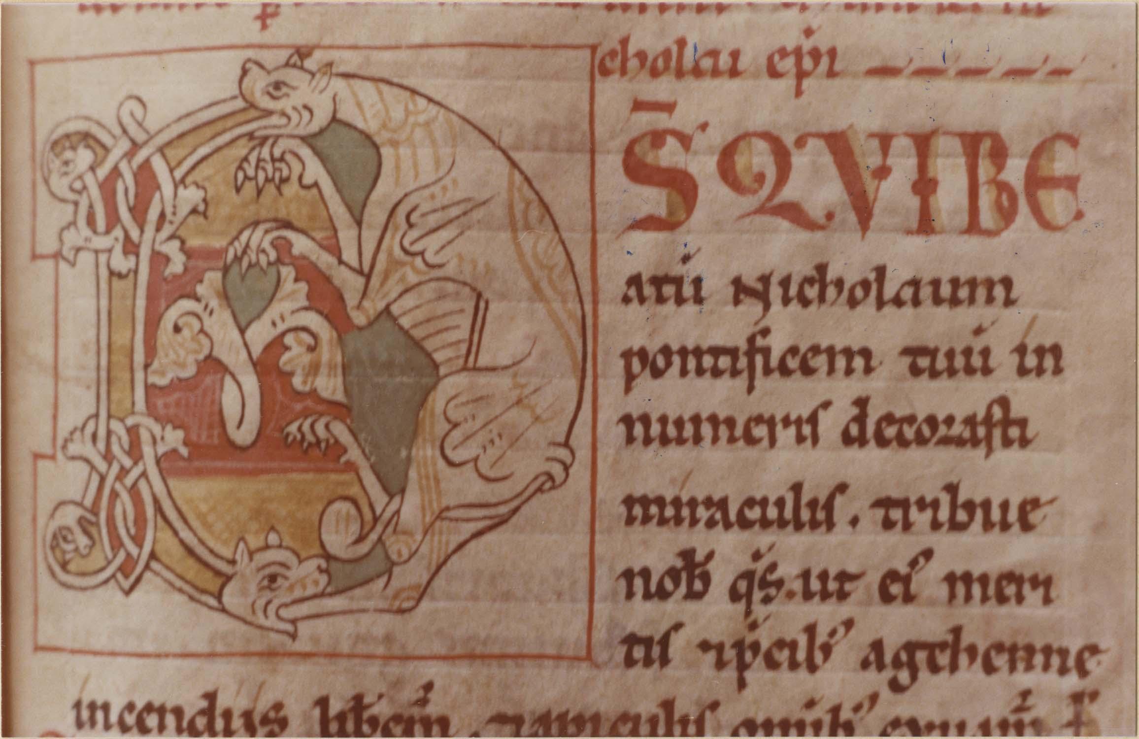 manuscrit : Sacramentaire de Moussoulens, détail