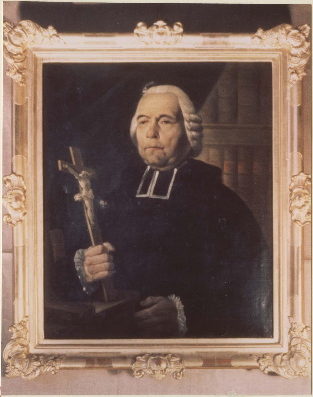 Tableau (panneau peint) : Vincent Auguste Raucoule, prêtre, et cadre
