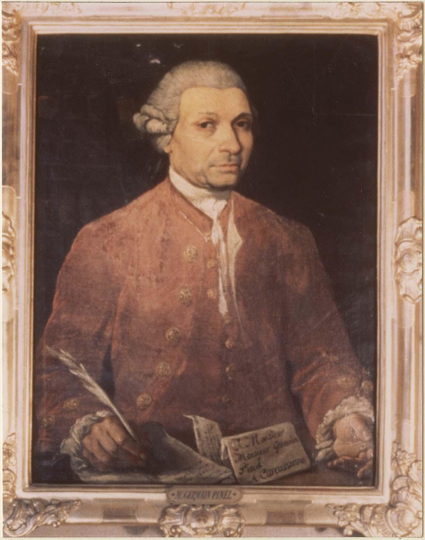 Tableau : Germain Pinel, conseiller à la cour des aides de Montpellier puis conseiller et doyen de la cour royale de Toulouse, cadre