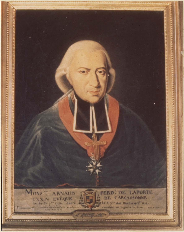 Tableau : Arnaud-Ferdinand de Laporte, chevalier de la Légion d'Honneur, évêque de Carcassonne, cadre