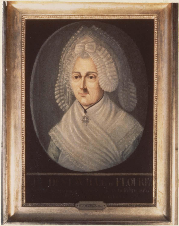 Tableau : Jeanne Destaville de Floure, bienfaitrice des pauvres, cadre