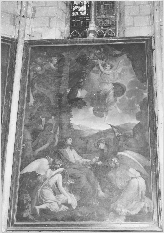 tableau : Christ au Jardin des Oliviers ou Jésus servi par les anges