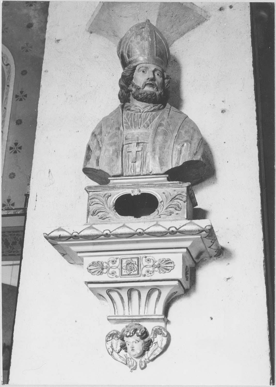 buste-reliquaire : un saint évêque