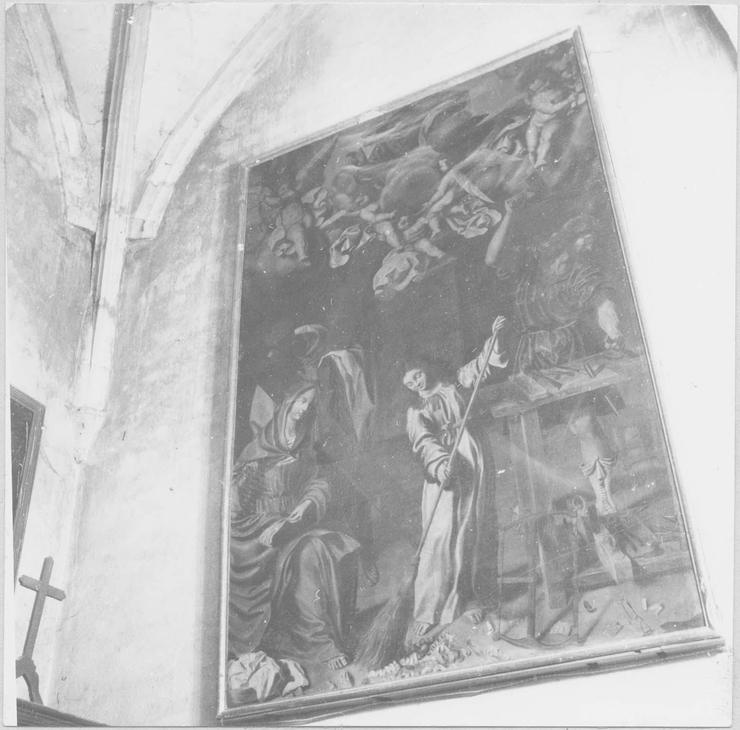 tableau : Jésus et la Vierge dans l'atelier de Joseph