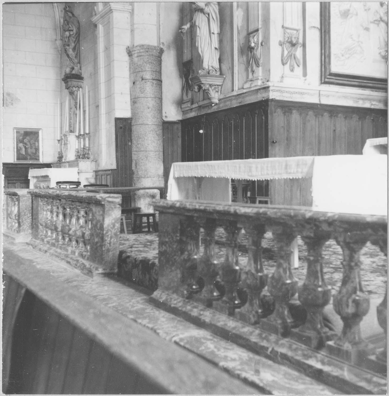 clôtures du choeur (table de communion) et des chapelles latérales