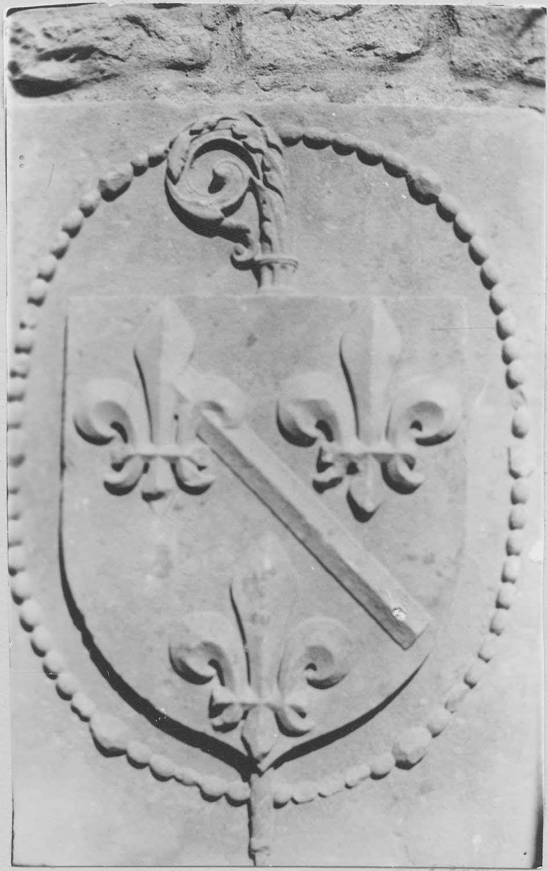 sculpture (bas-relief): blason aux armes de la maison de Bourbon