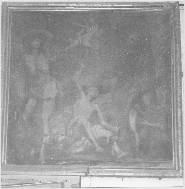 tableau : saint Sébastien et saint Roch