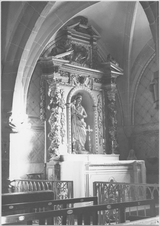 retable, statue: Vierge à l'enfant