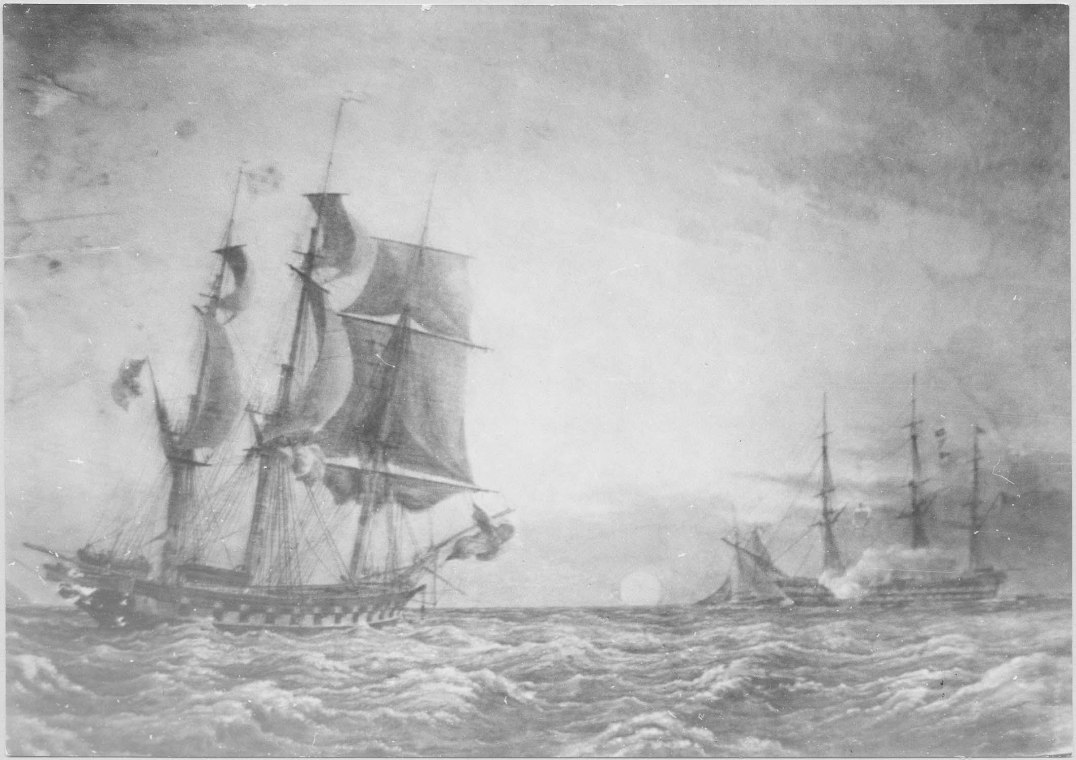 peinture ex-voto : Combat naval