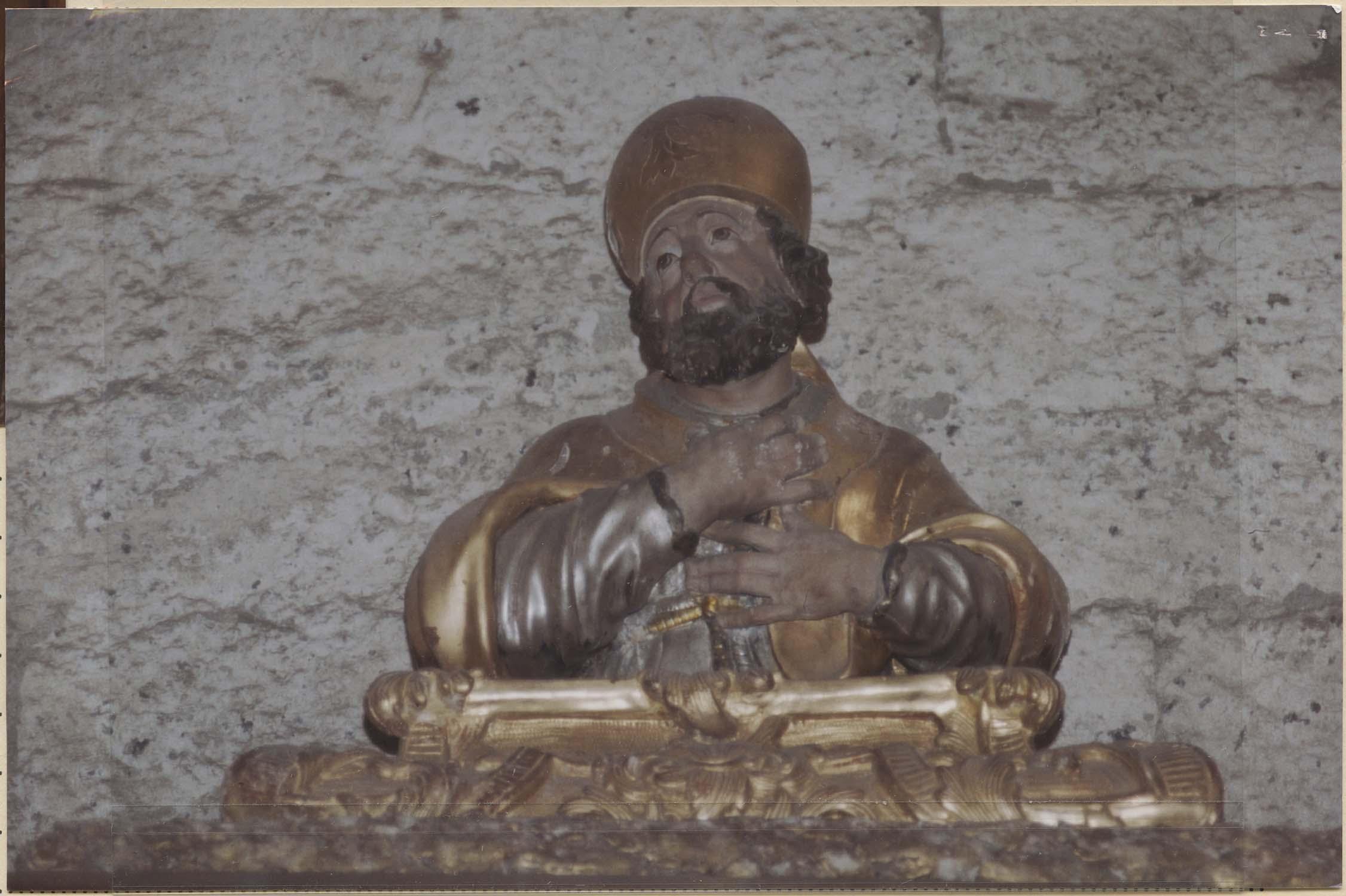 Ensemble reliquaire d'un saint Evêque : saint Maxime