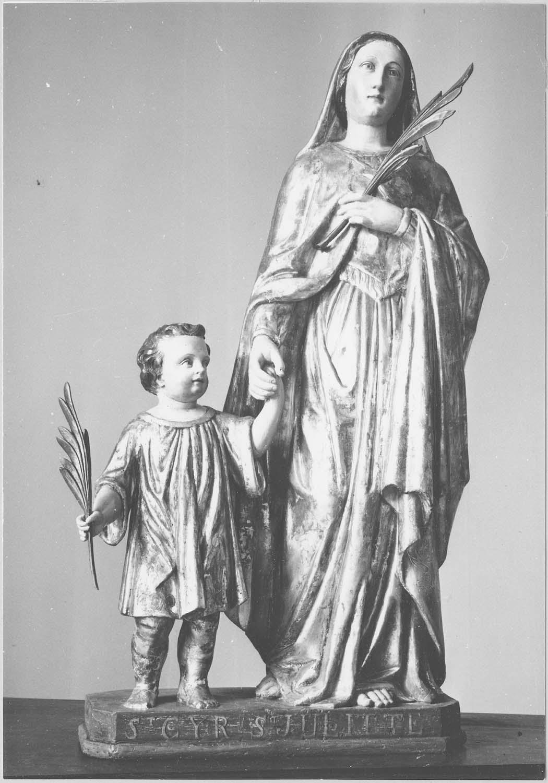 groupe sculpté : Sainte Julitte et saint Cyr