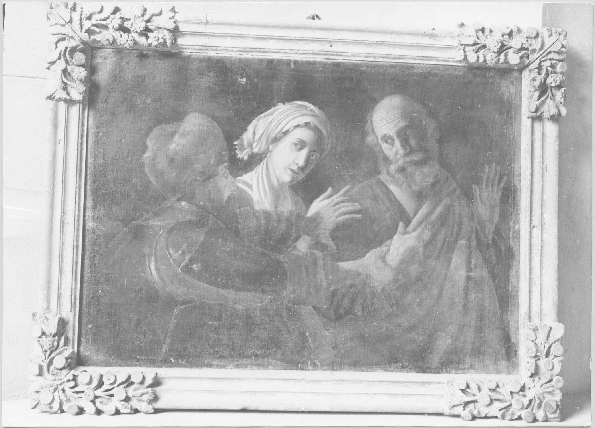 tableau : reniement de saint Pierre (le), cadre