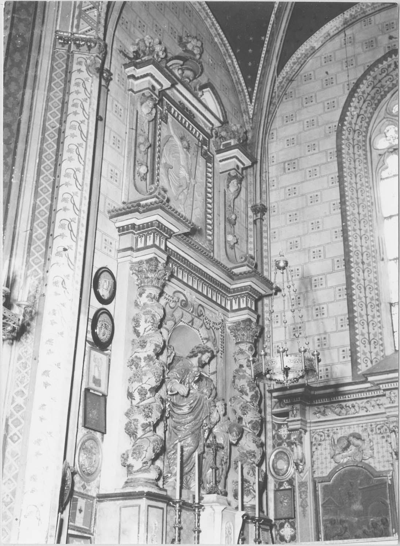 retable, groupe sculpté: saint Joseph et l'enfant Jésus