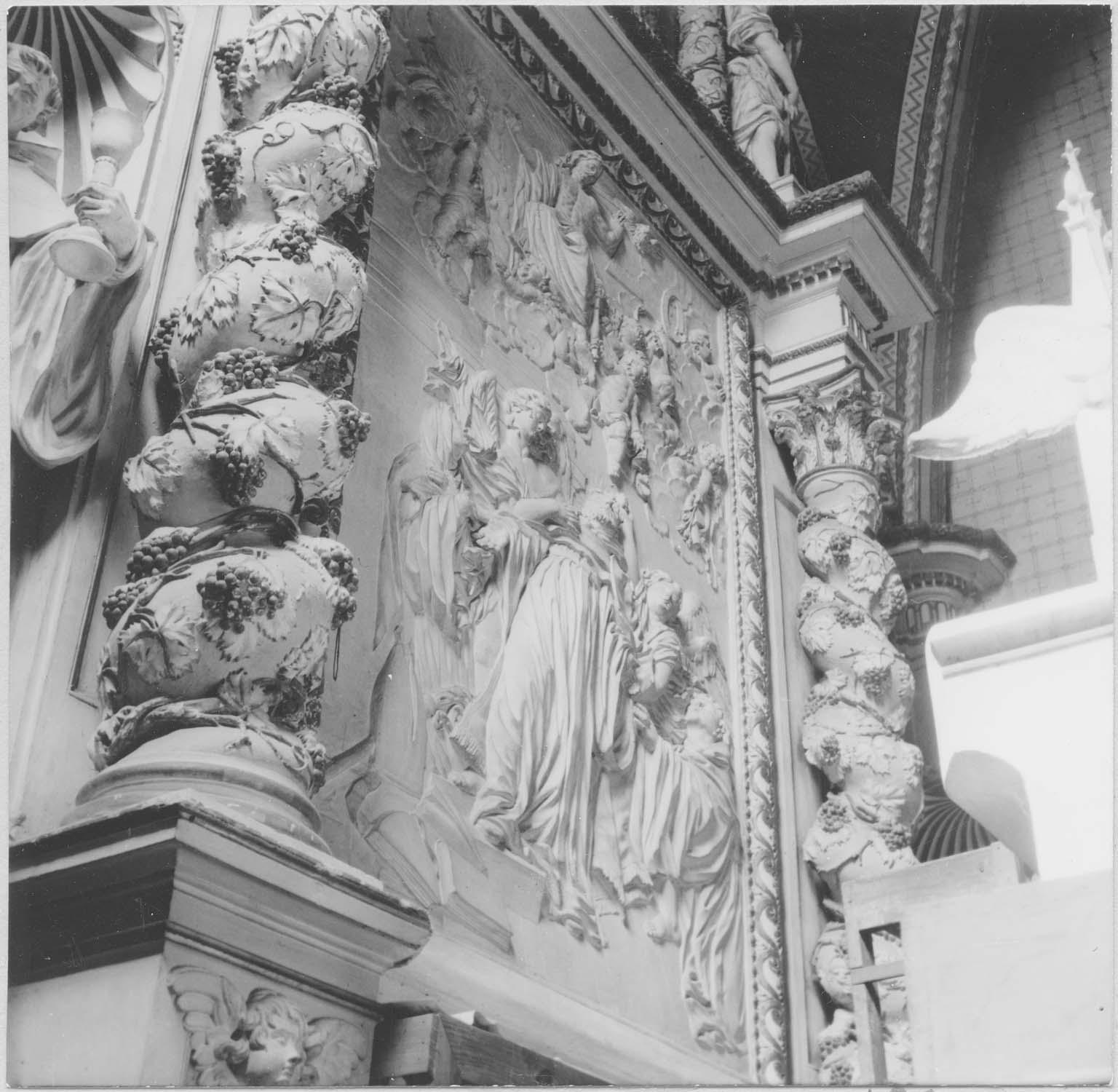 retable du maître-autel, haut-relief: Jésus apparaissant à saint Augustin