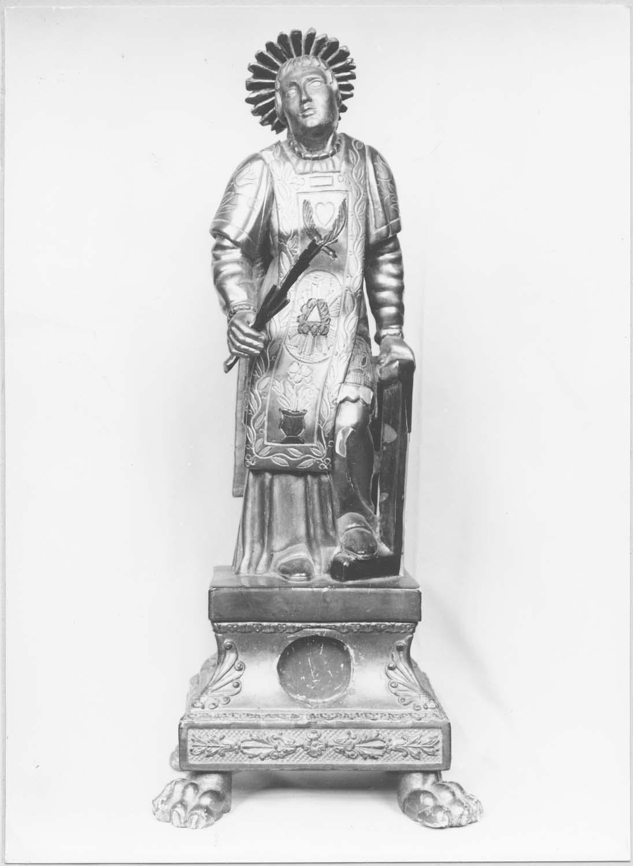 statuette-reliquaire : saint Vincent