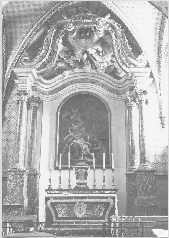 autel, retable, tableau : La Déposition de Croix, gradin, tabernacle (maître-autel)