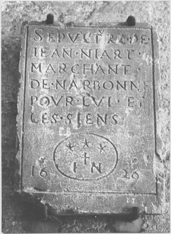 Dalle funéraire de Jean Niart