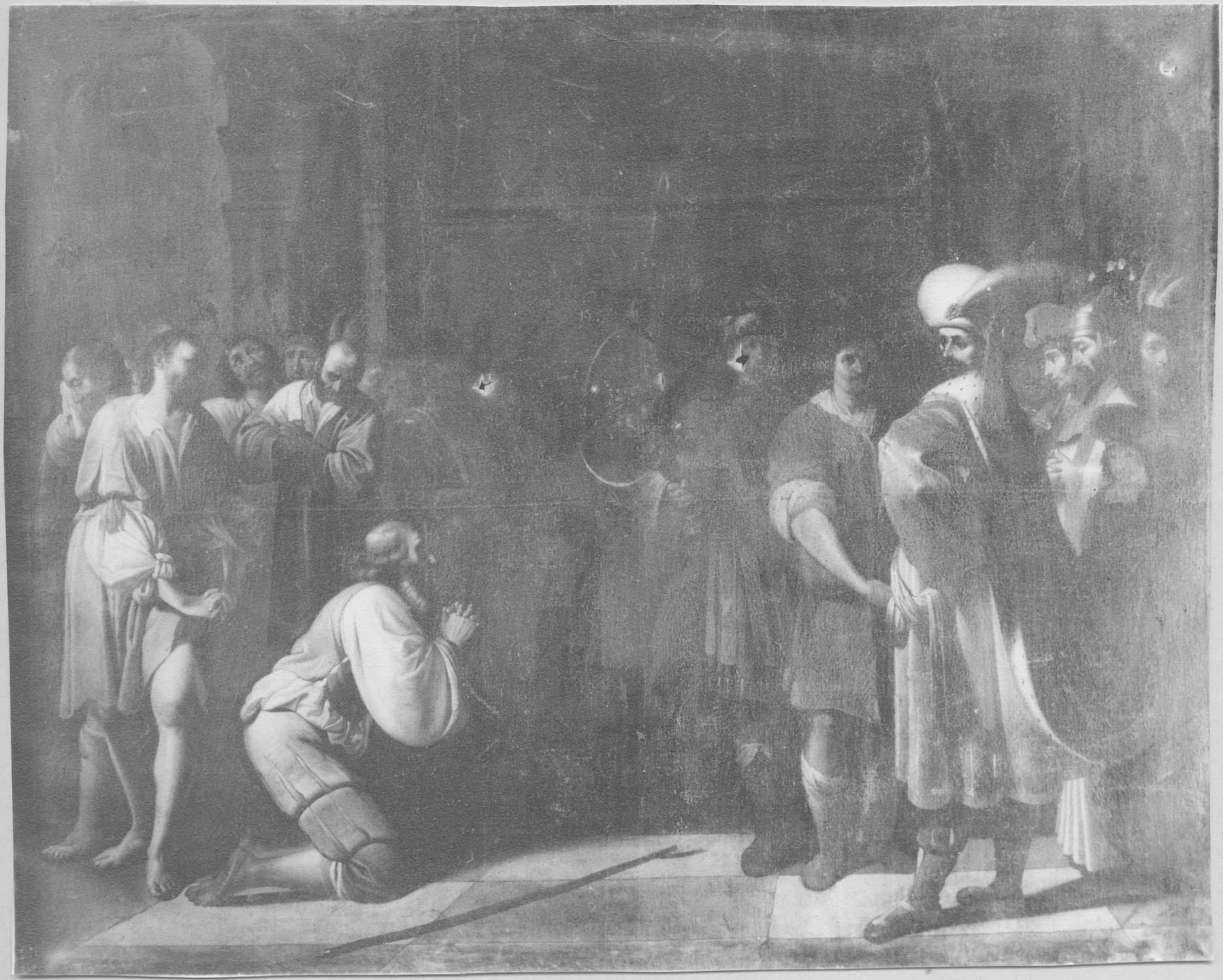 Tableau : Judas prosterné devant Joseph
