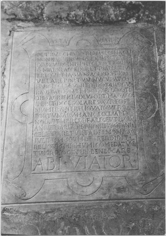 plaque funéraire de Pierre Chabot