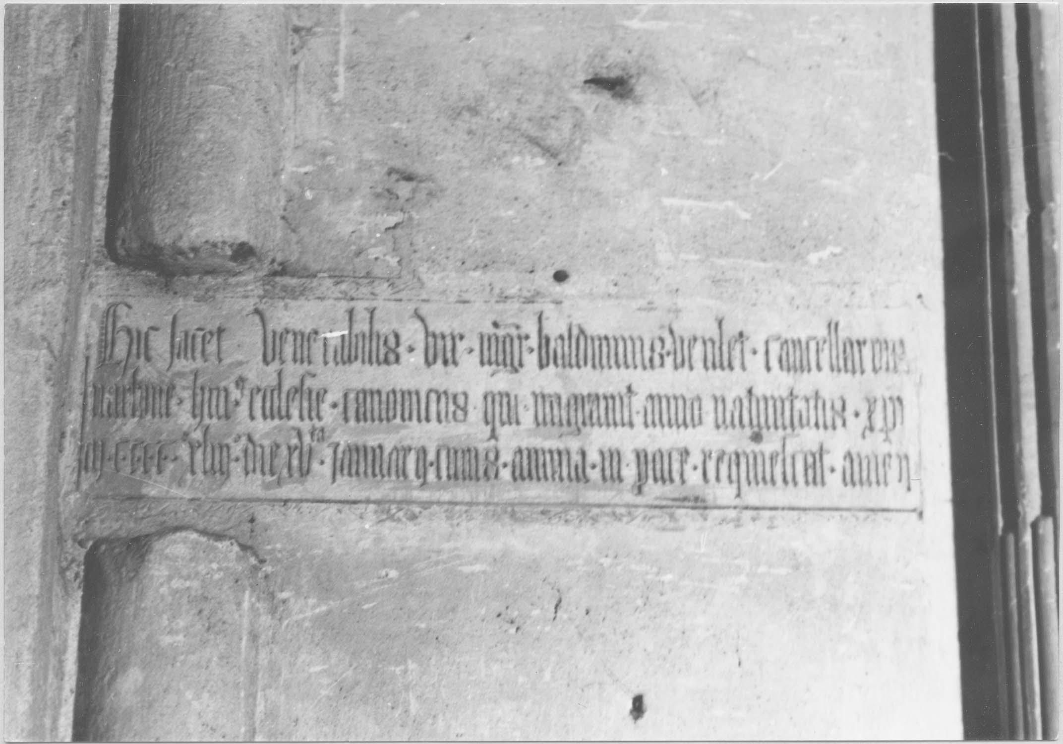 Plaque funéraire de Balduinus