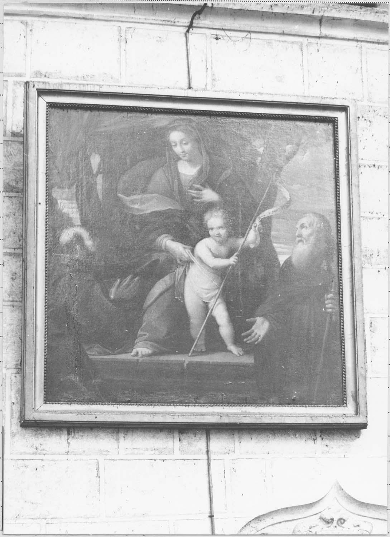 Tableau : Vierge à l'Enfant avec deux religieux