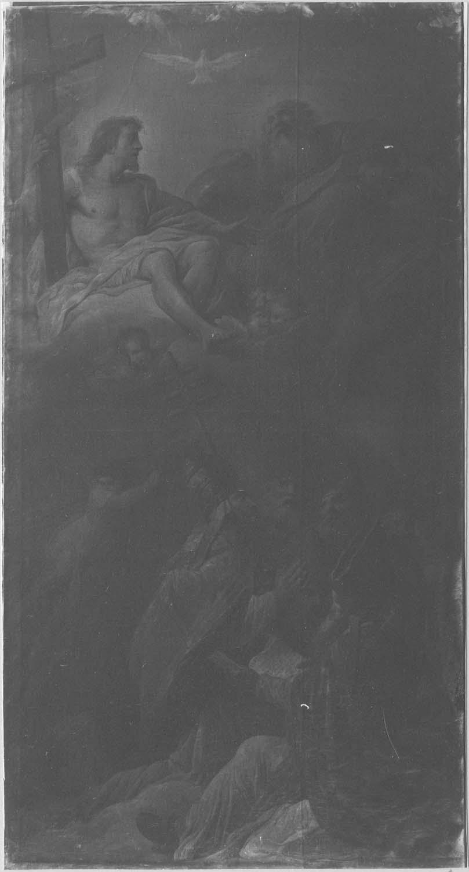 Tableau : Saint Augustin défendant le mystère de l'Incarnation devant une réunion d'évêques