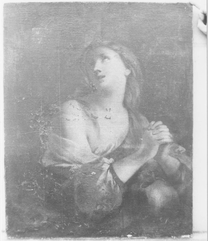 tableau : Figure de femme (sainte Agnès?)